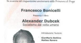 In Acqui, Bonicelli presenta il suo libro su Dubcek