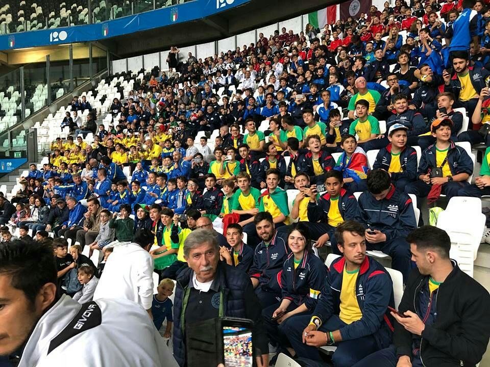 Il Cortemilia calcio presente ad Italia-Olanda