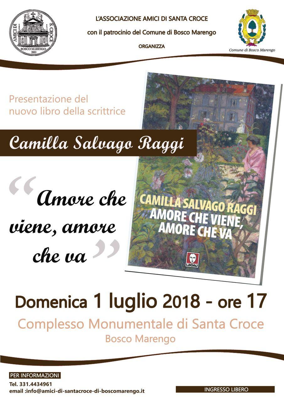 Locandina libro Camilla Salvago Raggi
