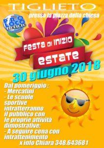 Locandina festa a Tiglieto