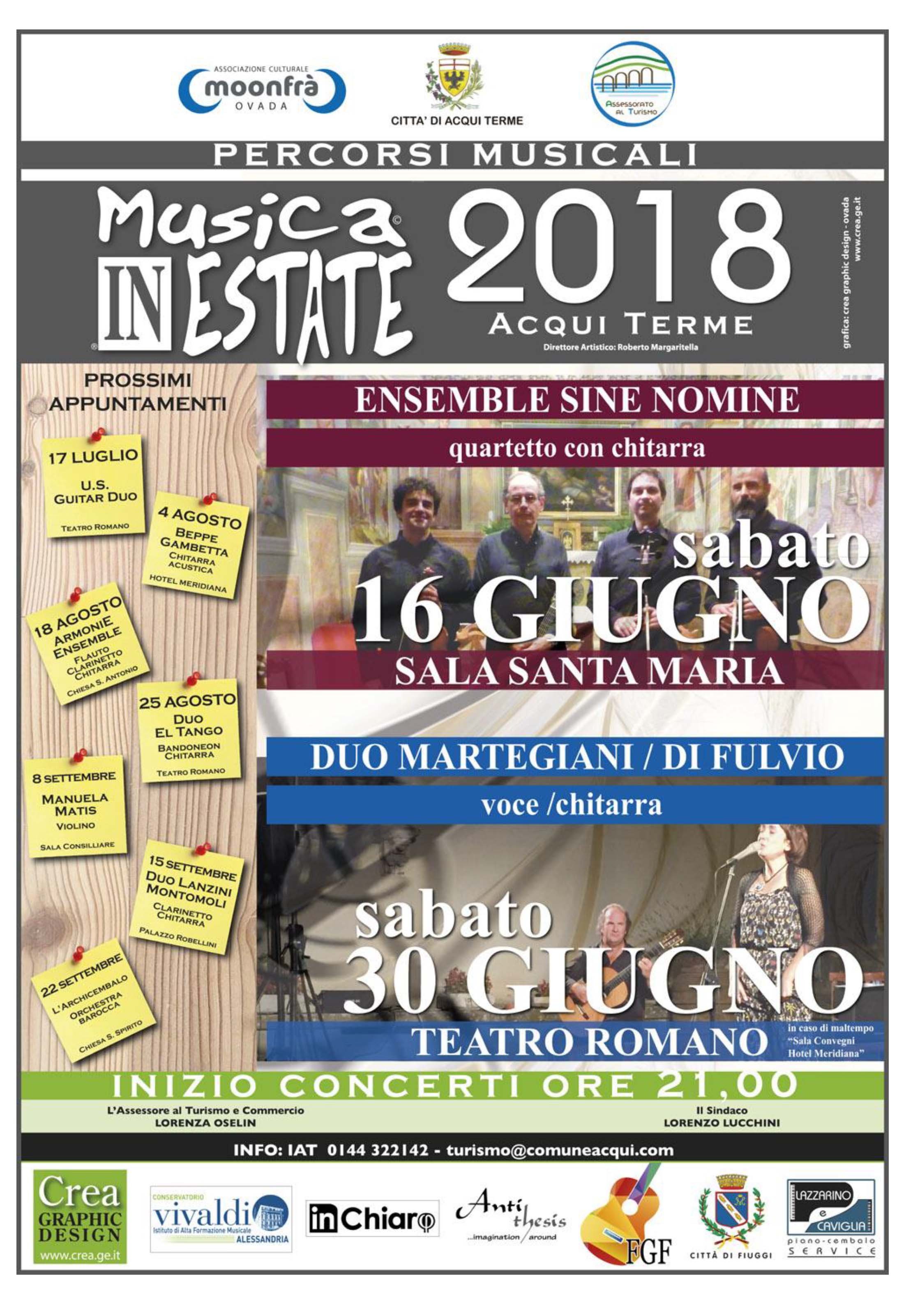 Ad Acqui Terme, Musica in estate