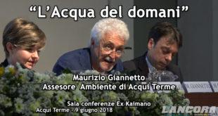"""""""L'Acqua del Domani"""" Intervento di Giannetto Maurizio (VIDEO)"""