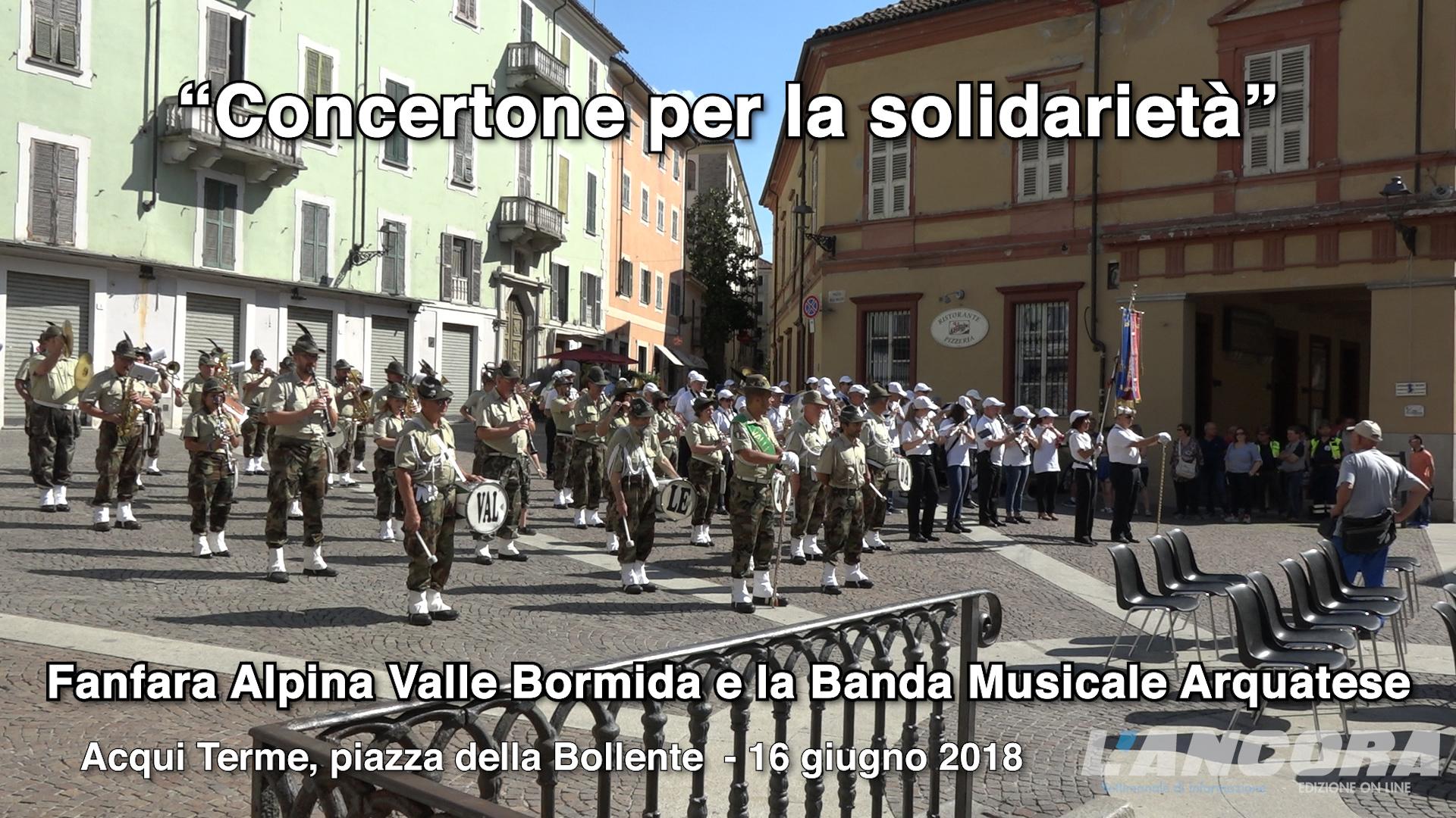 Acqui Terme - Concertone per la solidarietà (VIDEO)