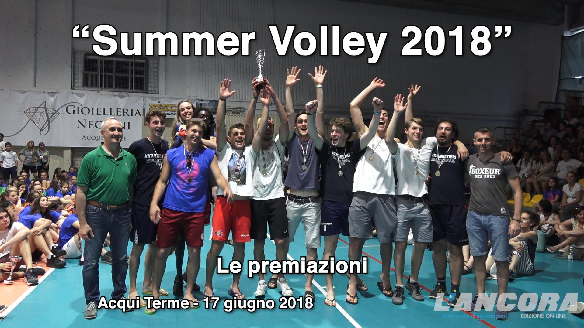 Acqui Terme - Summer Volley 2018, Le premiazioni