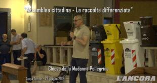 Assemblea cittadina - La raccolta differenziata (VIDEO) Prima parte
