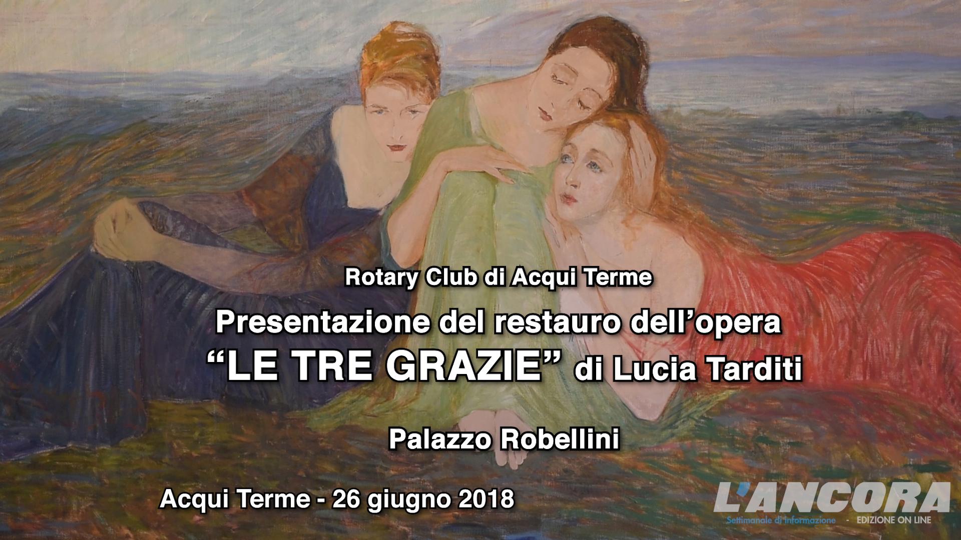 """Presentazione del restauro dell'opera """"LE TRE GRAZIE"""" di Lucia Tarditi (VIDEO)"""