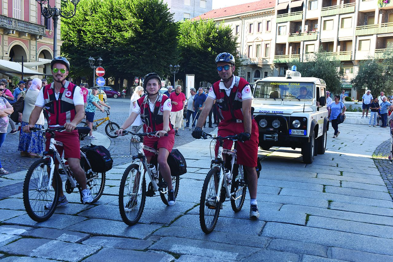 Ad Acqui, Croce Rossa in bici