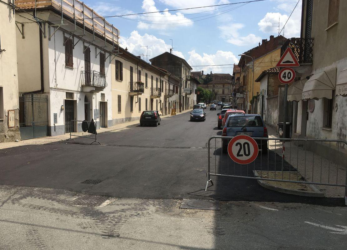 Cassine, lavori di asfaltatura