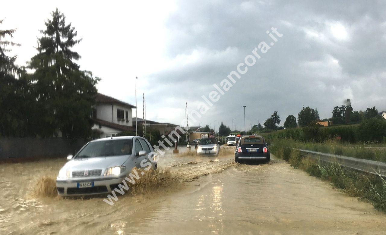 bomba d'acqua tra Strevi e Acqui ore 14.12