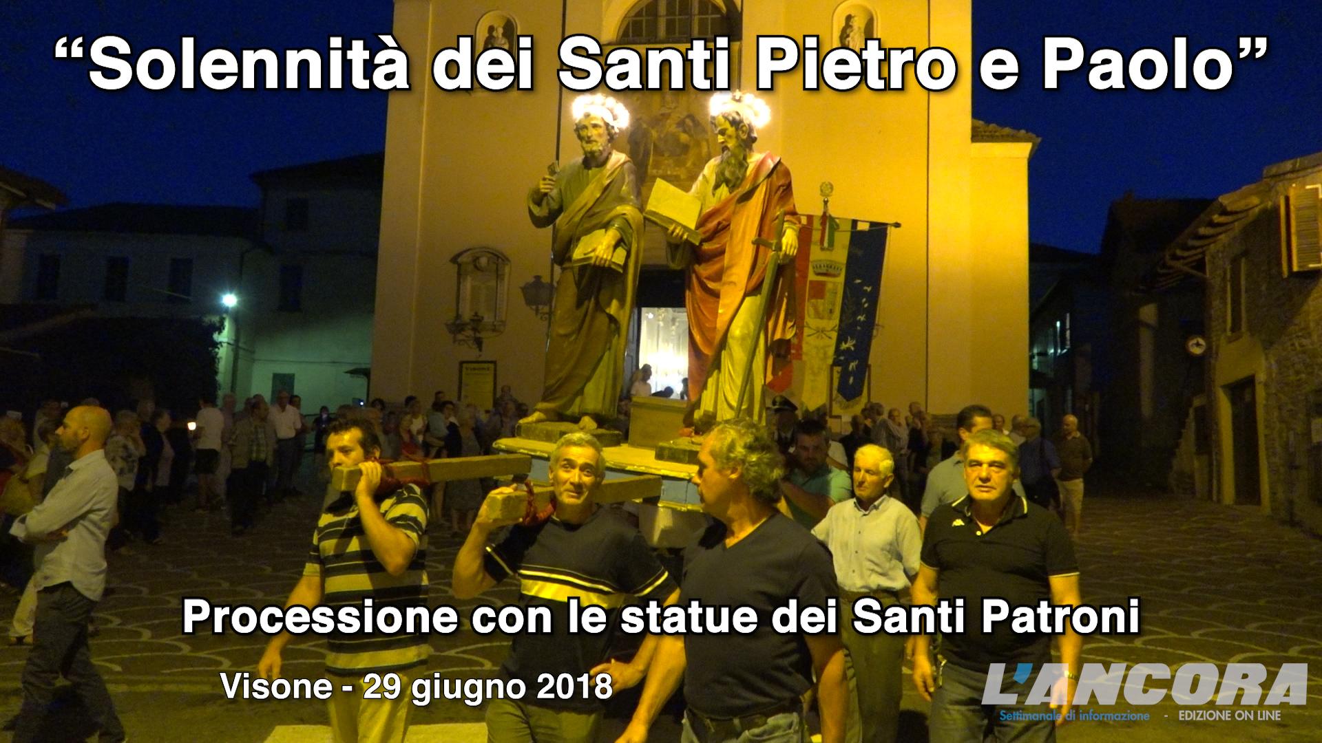 Video Visone Santi Pietro e Paolo