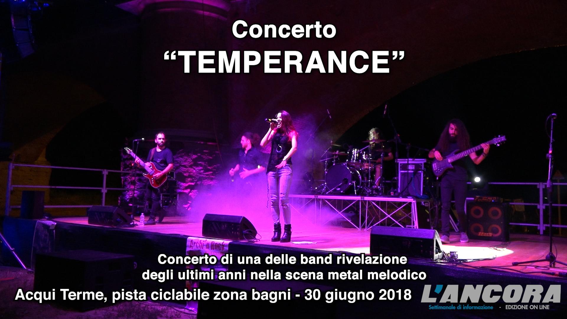 "Acqui Terme - ""I TEMPERANCE"" in concerto (VIDEO)"