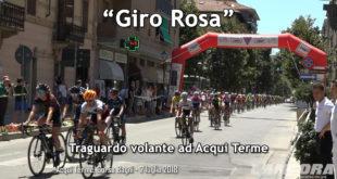 """Traguardo volante del """"Giro Rosa"""" ad Acqui Terme (VIDEO)"""