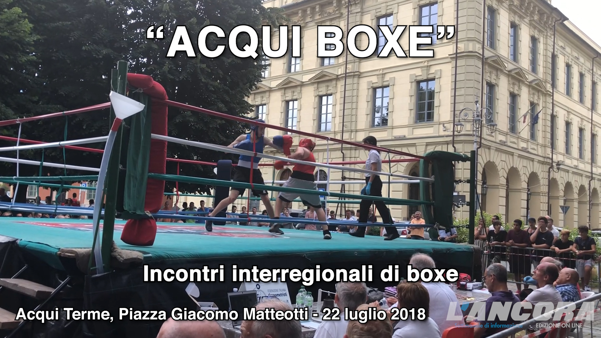 Acqui Boxe in piazza Matteotti (VIDEO)