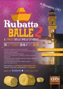 Rossiglione, locandina Rubatta Balle