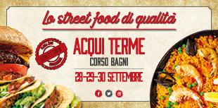 Lo street food di qualità ad Acqui Terme in corso bagni dal 28 al 30 settembre