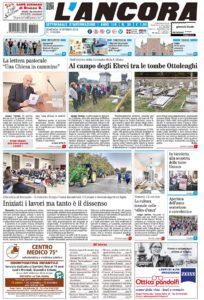 prima pagina L'Ancora n.38/2018