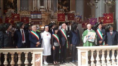 Perletto raduno provinciale Bersaglieri - Consegna quadro Madonna del Cammino