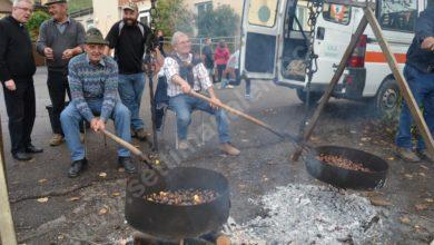 Cortemilia, tradizionale castagnata Alpina
