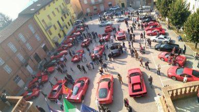 Le Ferrari a Castelnuovo Belbo e in tour sulle colline Unesco