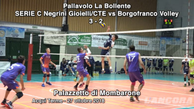 SERIE C Negrini Gioielli/CTE vs Borgofranco Volley 3 - 2 (VIDEO)