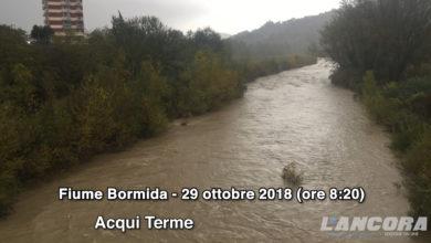 Acqui Terme - La situazione del fiume Bormida al 29 ottobre 2018 (VIDEO AGGIORNATO)