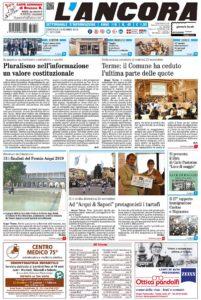 Prima pagina del n°45 del 2 dicembre 2018