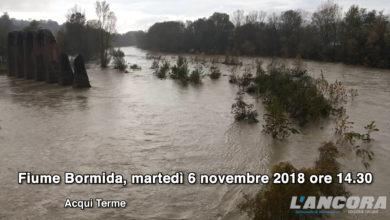 Acqui Terme - Il fiume Bormida, martedì 6 novembre 2018