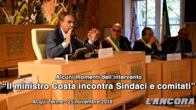 Acqui Terme - Il ministro Costa incontra Sindaci e comitati