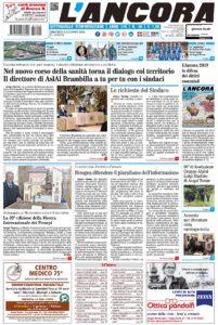 Prima pagina del n° 46 del 9 dicembre 2018