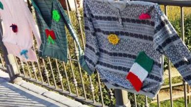 Carcare: ponte vecchio addobbato nel ricordo del Morandi