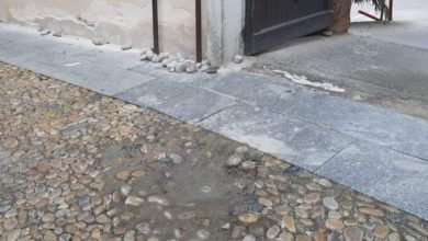 pietre, via Barone