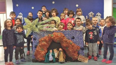 presepe scuola infanzia via Savonarola Acqui