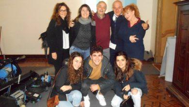 I vincitori del video concorso a Torino sul set del film con Bisio