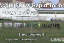 Calcio - Acqui FC vs Rapid Torino 5 - 0 (VIDEO)