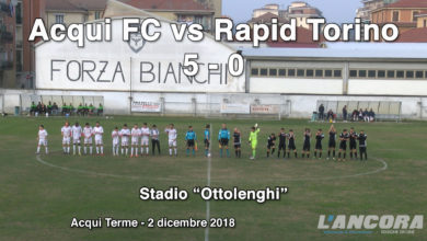Calcio - Acqui FC vs Rapid Torino 5 - 0 (VIDEO)