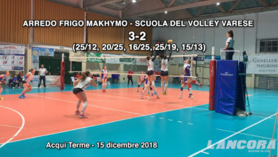 Volley - ARREDO FRIGO MAKHYMO - SCUOLA DEL VOLLEY VARESE 3-2