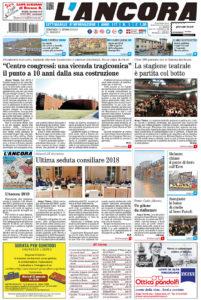 Prima pagina del N°1 del 13 gennaio 2019