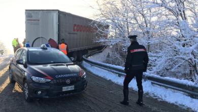 Emergenza neve, pattuglie dei Carabinieri impegnate in tutta la Provincia di Asti