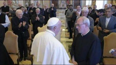 Padre Franco Moscone con Papa Francesco