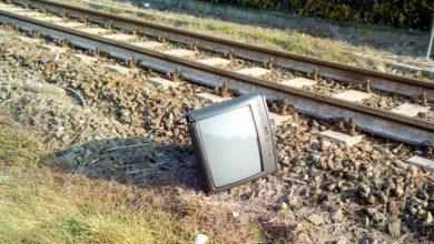 televisore abbandonato