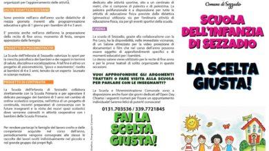 Sezzadio: un pieghevole per pubblicizzare la scuola per l'infanzia
