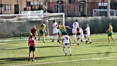 Calcio-Finale-Canelli - Il gol dello 0-1 di Blini