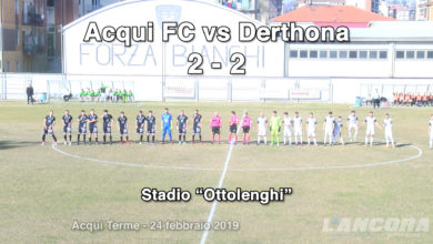 Calcio - Acqui FC vs Derthona 2 - 2 (VIDEO)