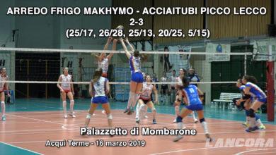Pallavolo serie B - Arredo Frigo Makhymo - Acciaitubi Picco Lecco 2-3 (VIDEO)