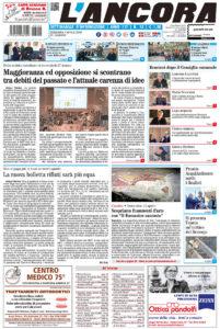 Prima pagina del N°13 del 7 aprile 2019