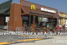 Acqui Terme - Apre il McDonald's in via Romita (VIDEO)