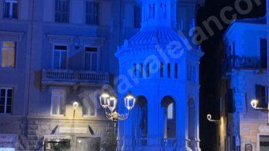 Photo of La Bollente illuminata di blu per la giornata mondiale dell'autismo