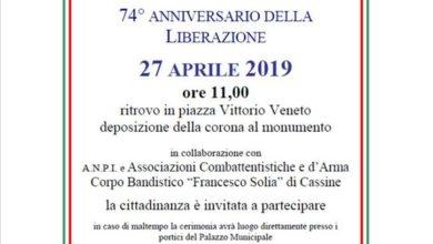 Photo of Cassine – il 74° della Liberazione si festeggia il 27