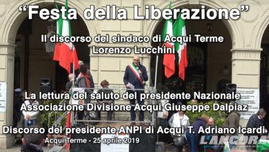 """Acqui Terme - """"Festa della Liberazione"""" - I Discorsi"""