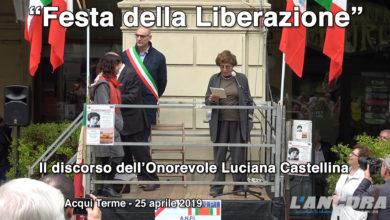 Acqui Terme - Il discorso dell'Onorevole Luciana Castellina